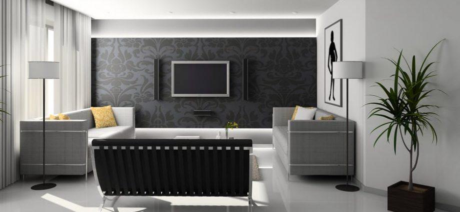 nowoczesny salon z płytkami
