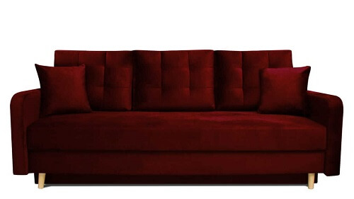 bordowa sofa